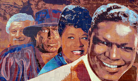 Wandgemälde Hollywood-Jazz 1945-1972 Stockfotografie