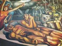 Wandgemälde im Museum des Palastes von schönen Künsten, Mexiko City stockfoto