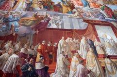 Wandgemälde im Vatikan Stockbilder
