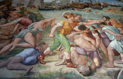Wandgemälde im Vatikan Lizenzfreies Stockbild