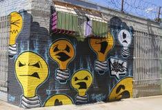 Wandgemälde in Ost-Williamsburg in Brooklyn Stockbilder