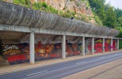 Wandgemälde am Rand der Straße Lizenzfreies Stockbild