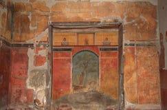 Wandgemälde in Roman Villa Poppaea, Italien lizenzfreie stockfotos