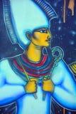 Wandgemälde von ägyptischen Göttern Stockfotos