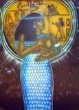 Wandgemälde von ägyptischen Göttern Stockbilder