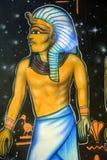 Wandgemälde von ägyptischen Göttern Lizenzfreie Stockbilder
