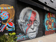 Wandgemälde von Bernie Sanders Lizenzfreie Stockfotos