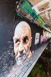 Wandgrafik am Schritt in der Arena in Eindhoven Stockbilder