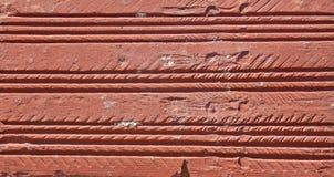 Wandhintergrund des roten Backsteins Stockbild