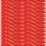 Wandillustration des roten Backsteins Stockbilder