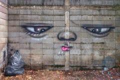 Wandkunst Stockfoto