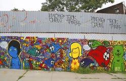 Wandkunst in Astoria-Abschnitt des Queens Lizenzfreie Stockbilder