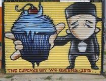 Wandkunst in Astoria-Abschnitt des Queens Stockfotos