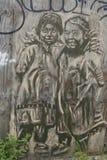 Wandkunst in Astoria-Abschnitt des Queens Stockbild