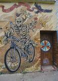 Wandkunst in Astoria-Abschnitt des Queens Stockbilder