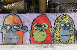 Wandkunst in Astoria-Abschnitt des Queens Lizenzfreies Stockfoto
