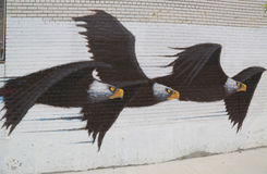 Wandkunst in Astoria-Abschnitt im Queens Stockfoto
