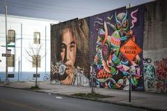 Wandkunst bei Bushwick Stockfotografie