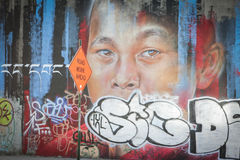 Wandkunst bei Bushwick Stockbild