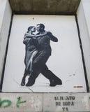 Wandkunst durch Jef Aerosol in Ushuaia, Argentinien Lizenzfreie Stockfotos