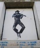 Wandkunst durch Jef Aerosol in Ushuaia, Argentinien Lizenzfreies Stockbild