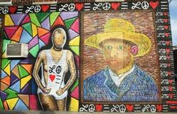 Wandkunst durch Künstler John Westbay an Allee U in Brooklyn Lizenzfreie Stockfotografie