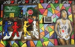 Wandkunst durch Künstler John Westbay an Allee U in Brooklyn Lizenzfreie Stockbilder