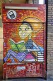 Wandkunst gemalt auf der Wand in der Mitte von Bolognace Lizenzfreies Stockbild