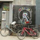 Wandkunst in wenigem Italien in Manhattan Stockfotos