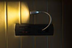 Wandlampe eingeschaltet Lizenzfreie Stockbilder