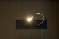 Wandlampe eingeschaltet Lizenzfreies Stockbild