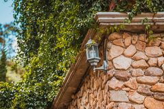 Wandlampen Stockbild