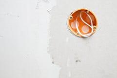 Wandleistunganschluß Stockfoto