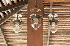 Wandleuchtelampe stockfoto