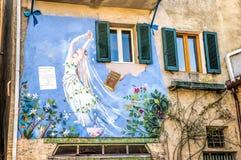 Wandmalerei in Saludecio Stockbilder