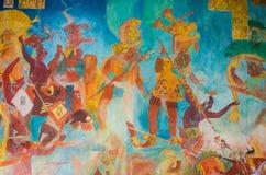 Wandmalereien Bonampak, die Adel beschreiben Stockfotos