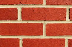 Wandnahaufnahme des roten Backsteins Lizenzfreie Stockbilder