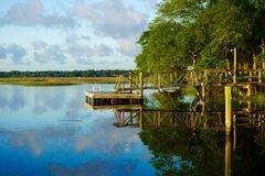 Wando River, SC Royalty Free Stock Photography