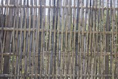 Wandpapier durch Bambuszaun machen stockbild