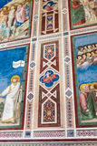Wandschmucke in Scrovegni-Kapelle in Padua Stockfotografie