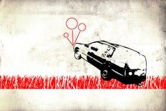 Wandspaßkunstdesign-Ideenwand Lizenzfreie Stockfotos