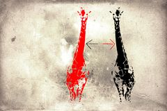 Wandspaßkunstdesign-Ideenwand Stockbilder