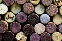 Wandstruktur von Weinkorken Stockbild