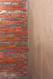 Wandziegelstein im Bau Lizenzfreie Stockbilder