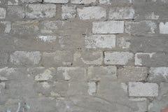 Wandziegelsteinweiß gemasert Stockbild