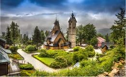 Wang教会在波兰在卡尔帕奇 库存图片