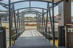 Wang郎码头或者Prannok或Siriraj码头沿位于 免版税库存图片