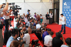 Wang Bing. Poses for photographers at 69th Venice Film Festival on September 8, 2012 in Venice, Italy Royalty Free Stock Photo