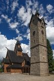 Wang Church in Karpacz. Norwegian wooden temple Wang in Karpacz, Poland Royalty Free Stock Photos