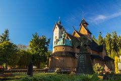 Wang church in Karpacz, Poland, View from the graveyard Stock Photography